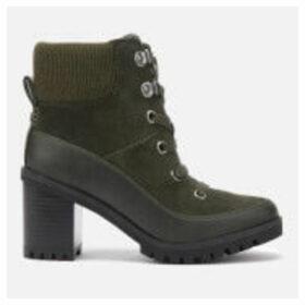 UGG Women's Redwood Lace up Heeled Boots - Black Olive - UK 8