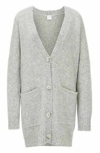 Oversized-fit V-neck cardigan in an alpaca blend