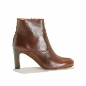 Odyssee Smooth Leather Ankle Boots with High Heels