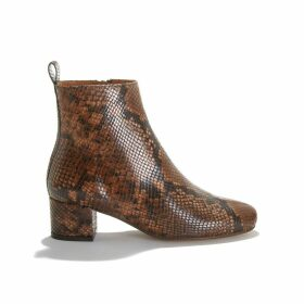 Udara Boots in Python Print Leather