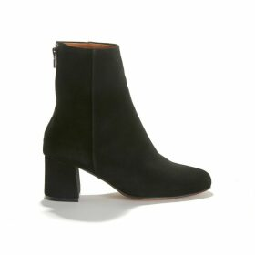 Daniela Suede Boots with Covered Heel