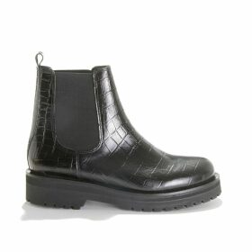 Aiparla Mock Croc Ankle Boots in Leather