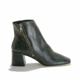 Adnile Snakeskin Effect Boots in Leather