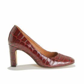 Odile Mock Croc Heels in Leather
