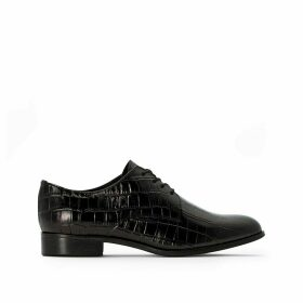 Mock Croc Leather Brogues