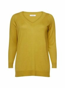 Ochre V-Neck Jumper, Yellow