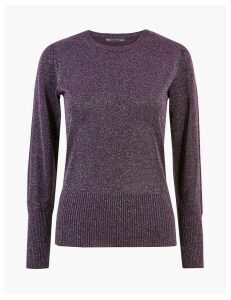 M&S Collection Lurex Gathered Shoulder Jumper