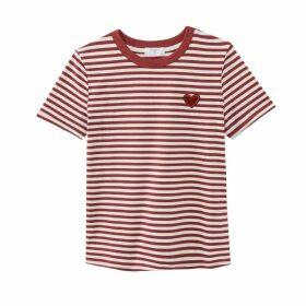 Ciroyo Cotton Breton T-Shirt with Crew-Neck