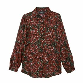 Iridescent Printed Shirt with Long-Sleeved