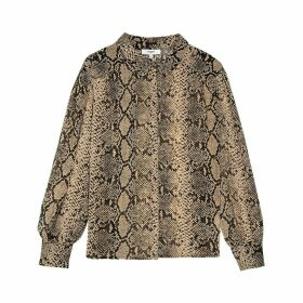 LOUKIA Long Sleeve Python Print Shirt