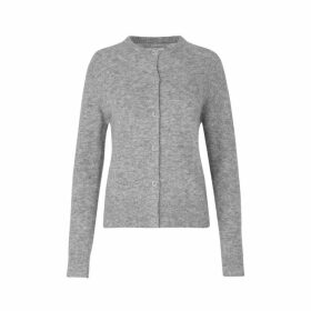 Slim Knit Crew Neck Cardigan