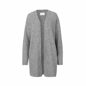 Long Fine Knit Open Cardigan