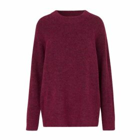 Mid-Length Crew-Neck Jumper in Fine Knit