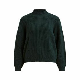 Chunky Knit Jumper with High Neck