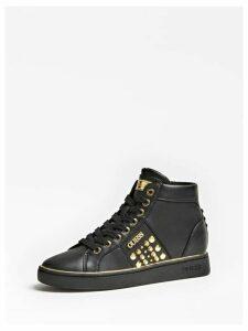 Guess Studded Bekann High-Top Sneakers