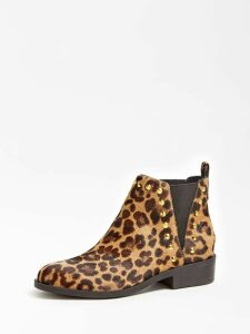 Guess Huttea Animalier Leather Low Boot