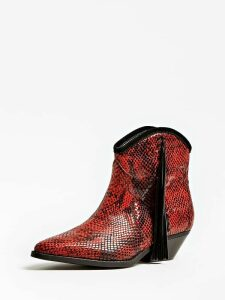 Guess Namia Python Lace-Up Texan Low Boot