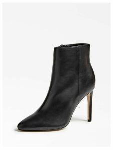 Guess Tabare Leather Logo Ankle Boot