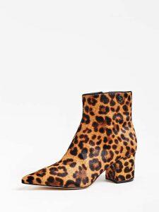 Guess Zadien Animalier Leather Court Shoe