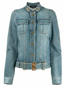 Gucci Pre-Owned cropped denim jacket - Blue