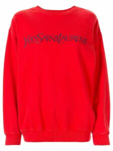 Yves Saint Laurent Pre-Owned logo print sweatshirt - ORANGE