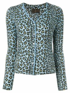Fendi Pre-Owned leopard print cardigan - Blue
