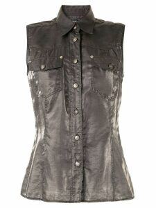 Versace Pre-Owned metallic sleeveless shirt