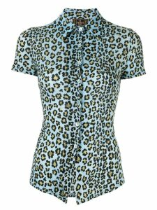 Fendi Pre-Owned leopard print shirt - Blue
