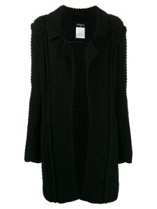 Chanel Pre-Owned 2009's knitted cardi coat - Black