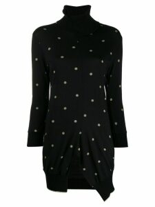 Yohji Yamamoto Pre-Owned 2000s asymmetric polka dot jumper - Black