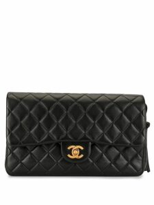 Chanel Pre-Owned diamond quilted chain backpack - Black