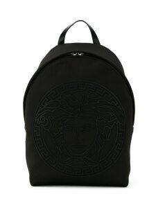 Young Versace TEEN Medusa head logo backpack - Black