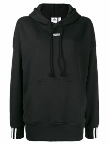 adidas logo hooded sweatshirt - Black