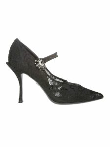 Dolce & Gabbana Mary Jane Lace Pumps