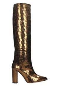 Paris Texas High Heels Boots In Bronze Leather