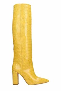 Paris Texas High Heels Boots In Yellow Leather