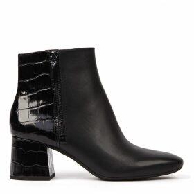 MICHAEL Michael Kors Black Leather Ankle Boots