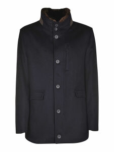 Herno Fur Applique Buttoned Top