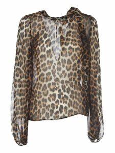 N.21 Silk Leopard Print Shirt