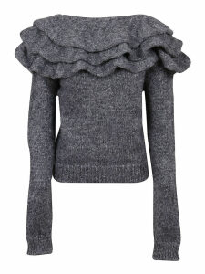 Grey Technical Fabric Sweater