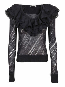 Black Technical Fabric Sweater