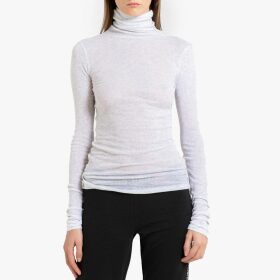 Massachusetts Cotton Roll-Neck T-Shirt with Long Sleeves