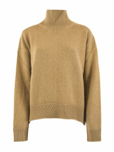 Laneus Brown Wool Turtle Neck Sweater