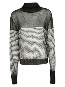Balmain Embellished Semi Turtleneck See-through Jumper