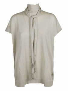 Brunello Cucinelli Scarf Detailed Top