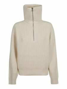 Acne Studios High Neck Ribbed Knit Jumper