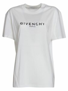 Givenchy Logo Tshirt In White