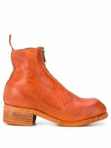 Guidi zip detail boots - ORANGE