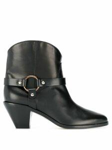 Francesco Russo buckle detail boots - Black