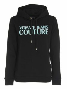 Versace Jeans Couture Black Hoodie With Logo